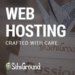 Image with text: web hosting crafted with care. SiteGround